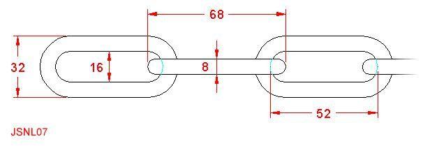Long Link Chain - Stainless Steel - 316 - JSNL07