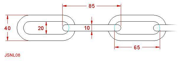 Long Link Chain - Stainless Steel - 316 - JSNL08