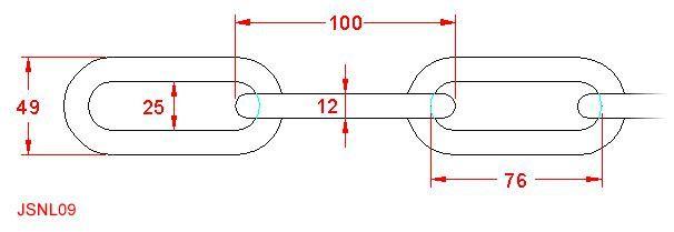 Long Link Chain - Stainless Steel - 316 - JSNL09