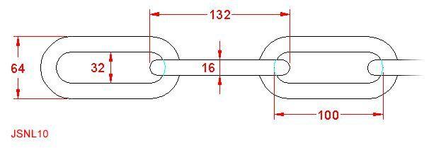 Long Link Chain - Stainless Steel - 316 - JSNL10