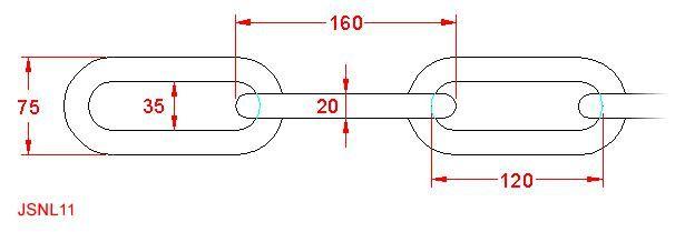 Long Link Chain - Stainless Steel - 316 - JSNL11