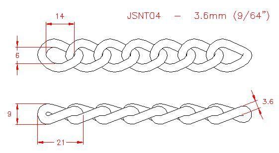 Twist Link Chain - Stainless Steel - 304 - JSNT04