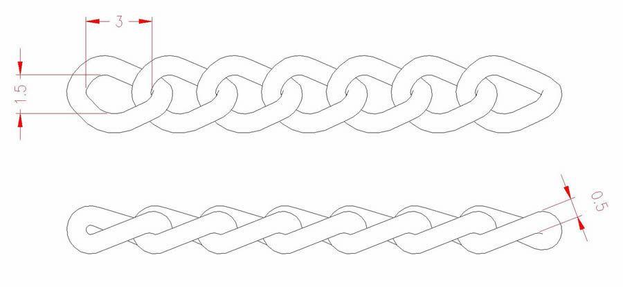 Twist Link Chain - Stainless Steel - JSNT06