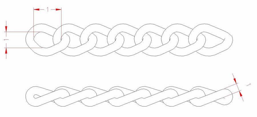 Twist Link Chain - Stainless Steel - JSNT07