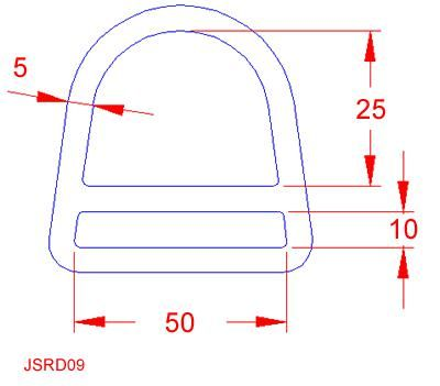 Double Bar D Ring - Stainless Steel - 316 - JSRD09