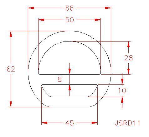 Double Bar D Ring - Stainless Steel - 316 - JSRD11