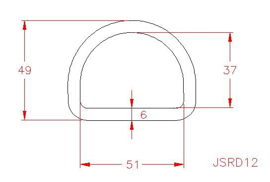 D Ring - Stainless Steel - 316 - JSRD12