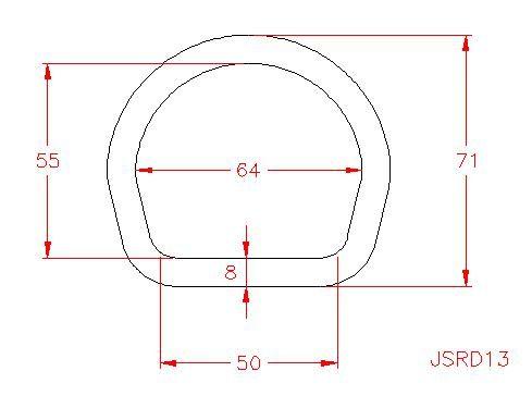 D Ring - Stainless Steel - 316 - JSRD13
