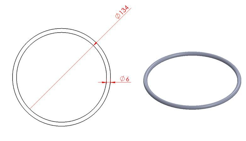 Round Ring - Stainless Steel - Mirror - 304 - JSRR14