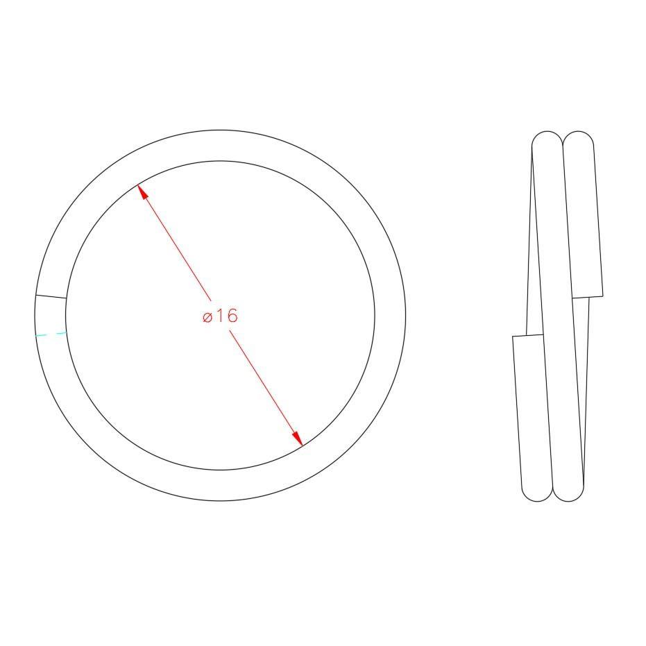 Split Ring - Stainless Steel - 316 - JSRS02