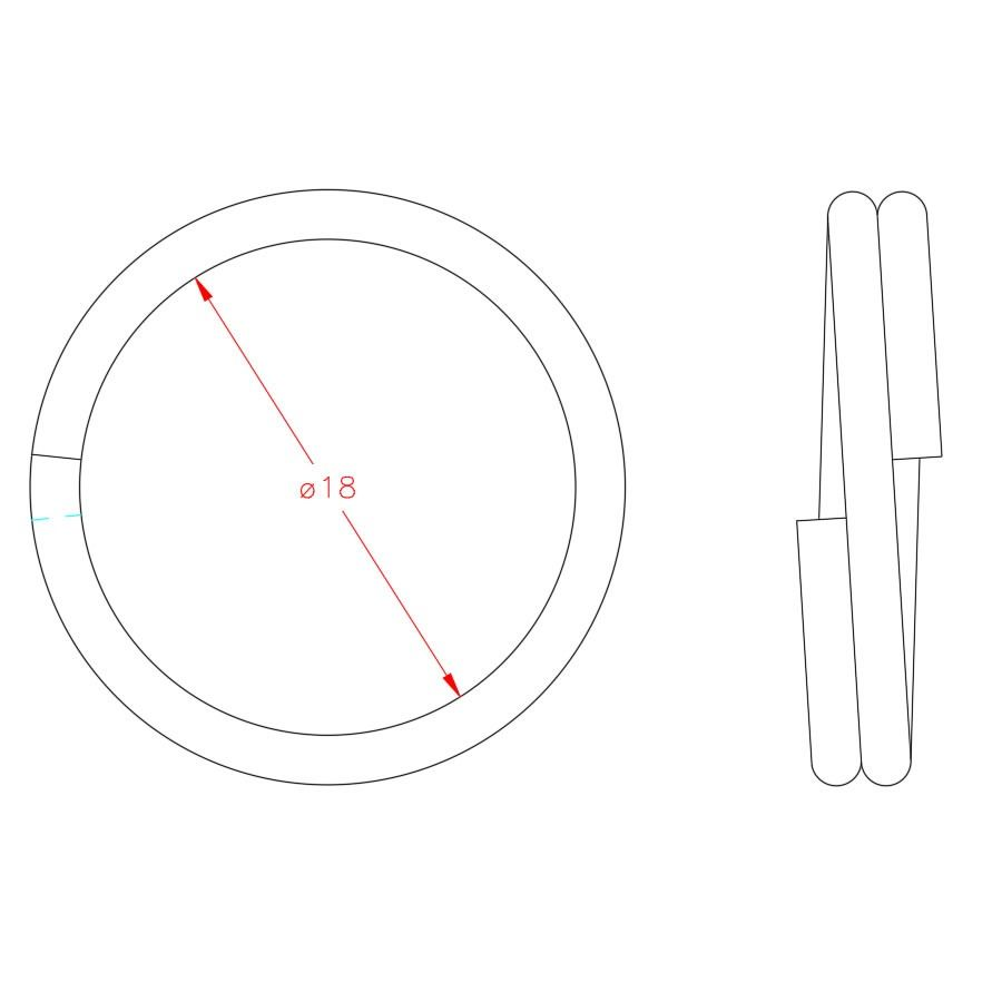 Split Ring - Stainless Steel - 316 - JSRS03