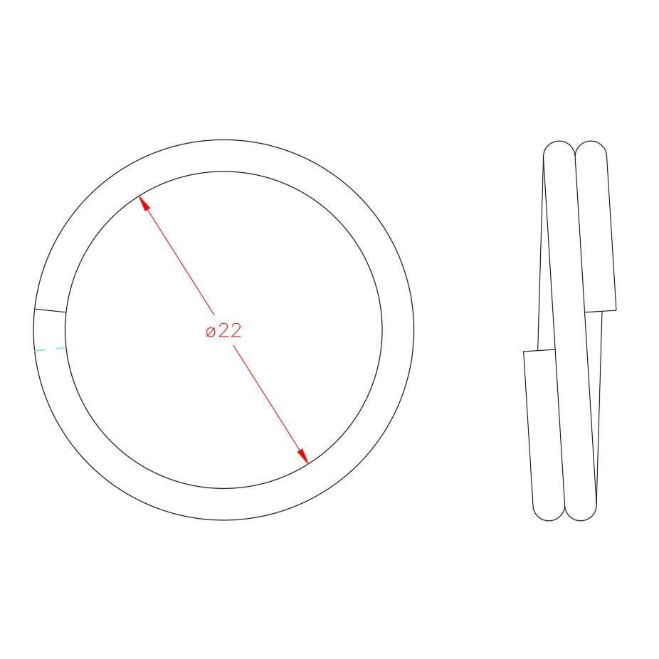 Split Ring - Stainless Steel - 316 - JSRS04