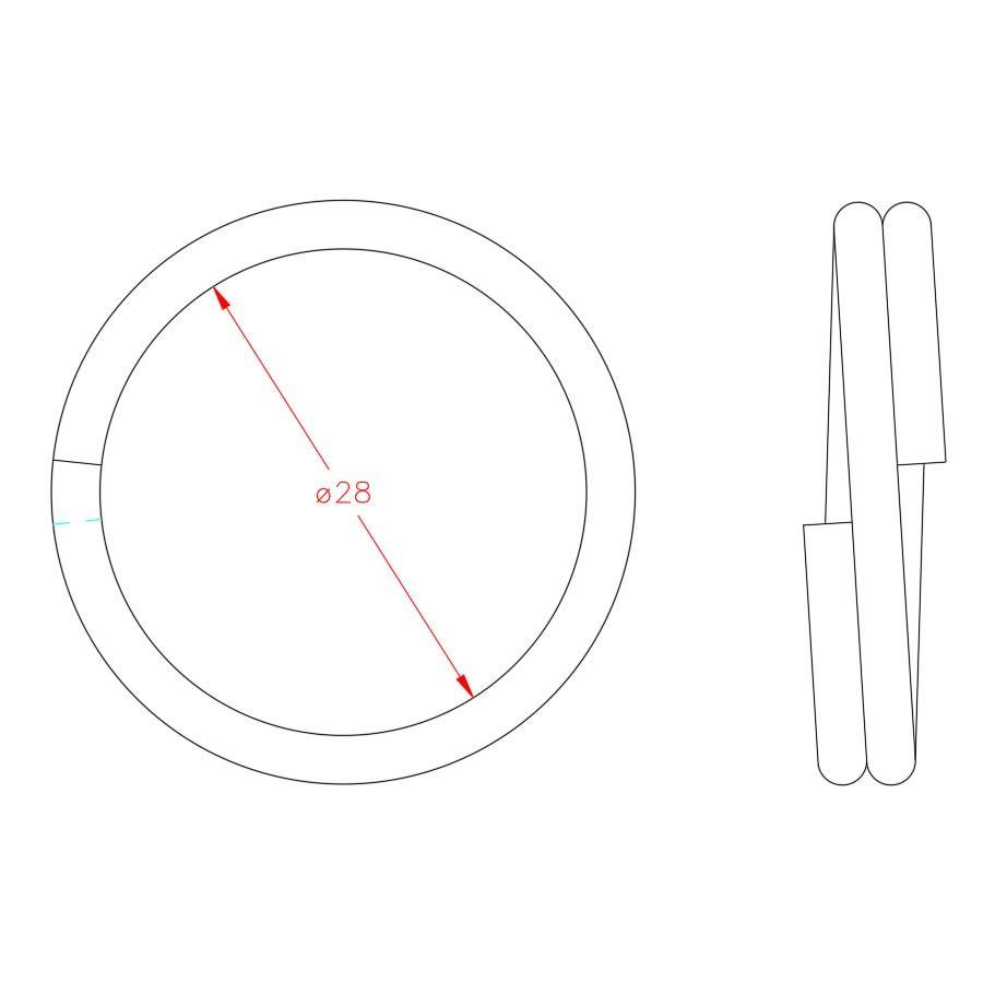 Split Ring - Stainless Steel - 316 - JSRS05