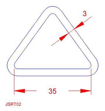 Triangular Ring - Stainless Steel - 316 - JSRT02