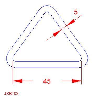 Triangular Ring - Stainless Steel - 316 - JSRT03