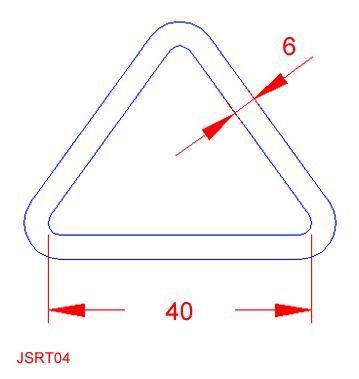 Triangular Ring - Stainless Steel - 316 - JSRT04