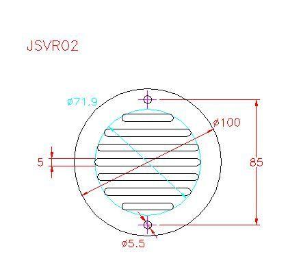 Round Ventilation Grille - Stainless Steel - Satin - 304 - JSVR02