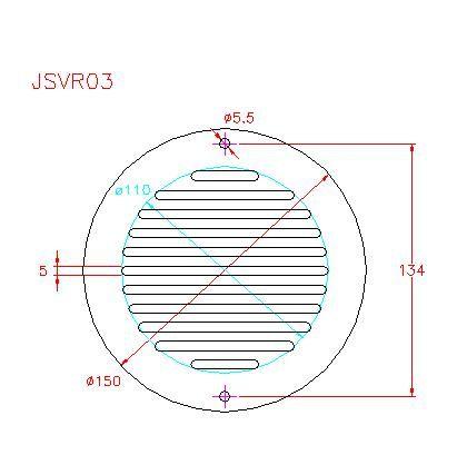 Round Ventilation Grille - Stainless Steel - Satin - 304 - JSVR03