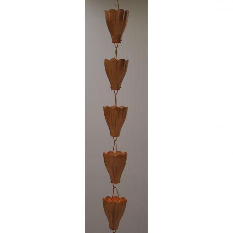 Large Scallop Rain Chain - Copper - Copper - Copper - MHRC007