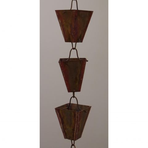 Large Square Cup Rain Chain
