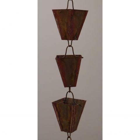 Large Square Cup Rain Chain - Copper - Copper - Copper - MHRC008
