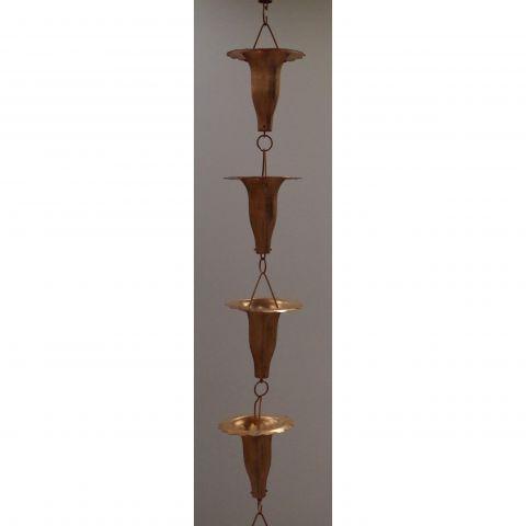 Honeysuckle Rain Chain - Copper - Copper - Copper - MHRC012