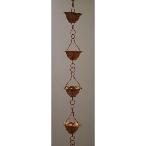 Flower Bell Rain Chain - Copper - Copper - Copper - MHRC013