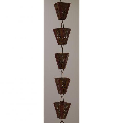 Arts and Crafts Rain Chain - Copper - Copper - Copper - MHRC015