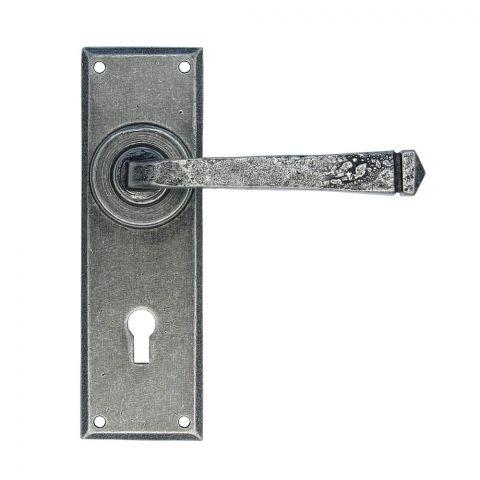 Avon Pewter Lever Lock Set - Pewter Patina - MHAN0345