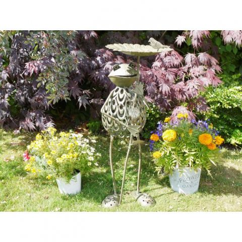 Frog Bird Feeder - Metal - MHDI733