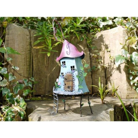 Fairy Treehouse Garden Ornament - Metal - Hand Painted - MHDI015