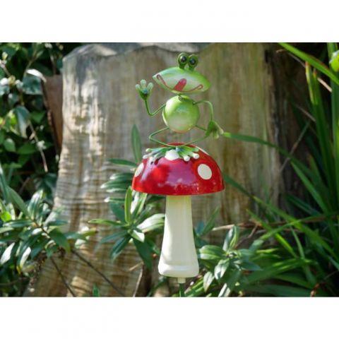 Frog On Mushroom Stake