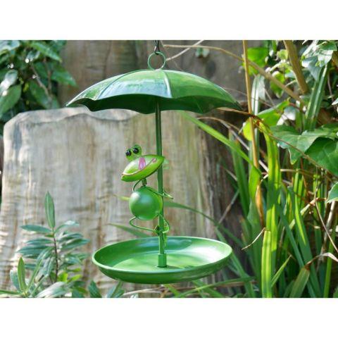 Umbrella Bird Feeder - Frog