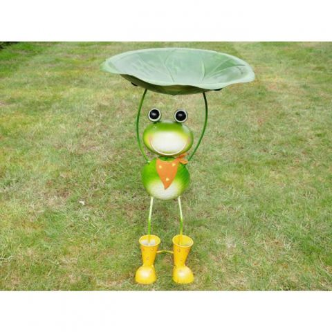 Frog Bird Bath/Feeder - Metal - MHDI738