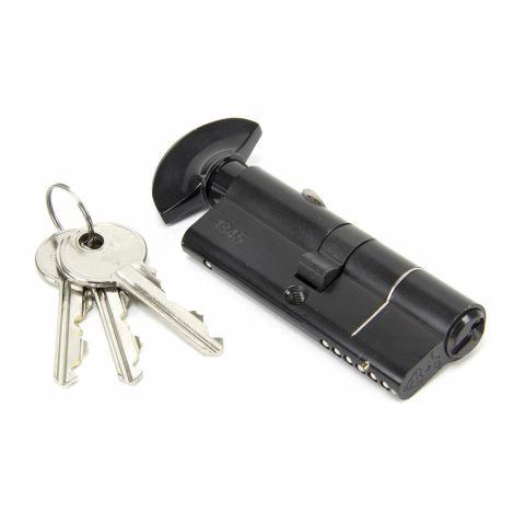 Euro Cylinder & Turn Lock - Black - MHAN1825