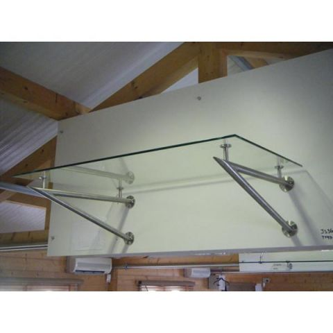 V Type Bracket - No Glass Supplied - Stainless Steel - Satin - 304 - JS3G07