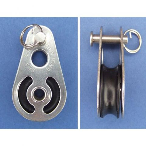 Single block with clevis pin - Stainless Steel - Electro - 316 - JS2P11
