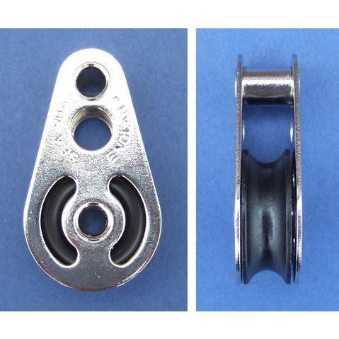 Single block with hollow rivet