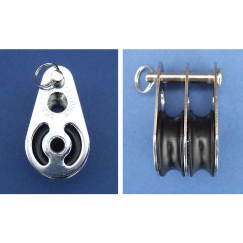 Double block with clevis pin - Stainless Steel - Electro - 316 - JS2P20