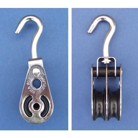 Double swivel hook block - Stainless Steel - Electro - 316 - JS2P22