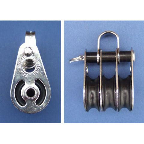 Triple block with shackle - Stainless Steel - Electro - 316 - JS2P26