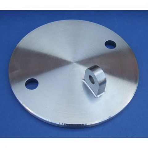 Glass Canopy Wall Plate - Stainless Steel - Satin - 316 - JS3G03