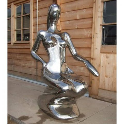 Crouching Lady - Stainless Steel - Mirror - 304 - JSB01
