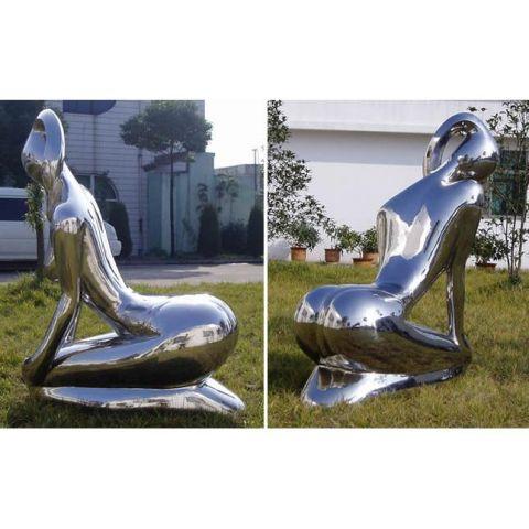 Kneeling Lady - Stainless Steel - Mirror - 304 - JSB08