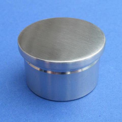 Flat End Cap - Stainless Steel - Satin - 316 - JSLD08