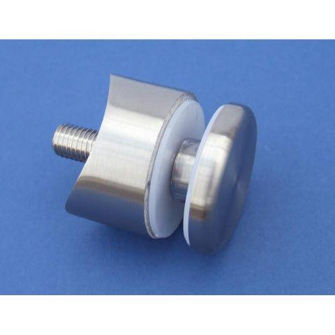 Round-back Glass Adapter - Stainless Steel - Satin - 316 - JSLA38