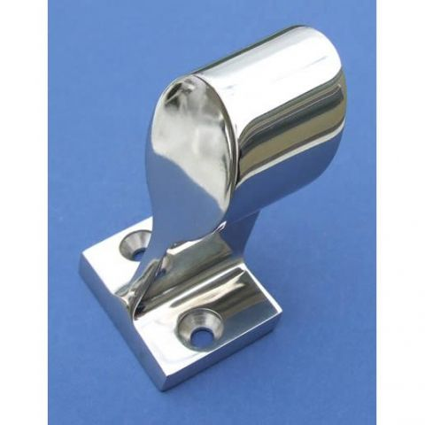 60° End Stanchion - Stainless Steel - Mirror - 316 - JSLB08
