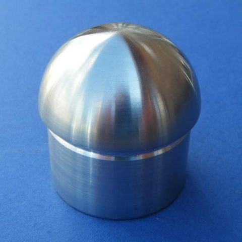 Deep Dome End Cap - Stainless Steel - Satin - 316 - JSLD20