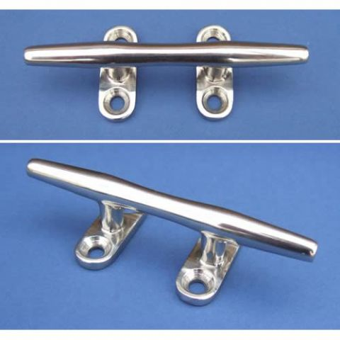 Four Hole Hollow Base Cleat - Stainless Steel - Mirror - 316 - JSQ18