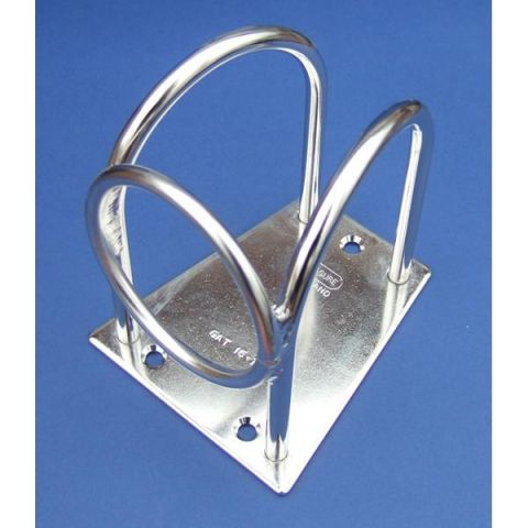 Spinnaker Pole Stowage Bracket with Ring - Stainless Steel - 316 - JSQ25